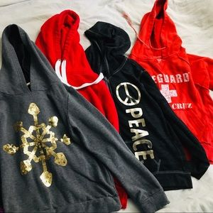 GIRLS HOODIE JACKETS BUNDLE CLOTHES LOT CLOTHING